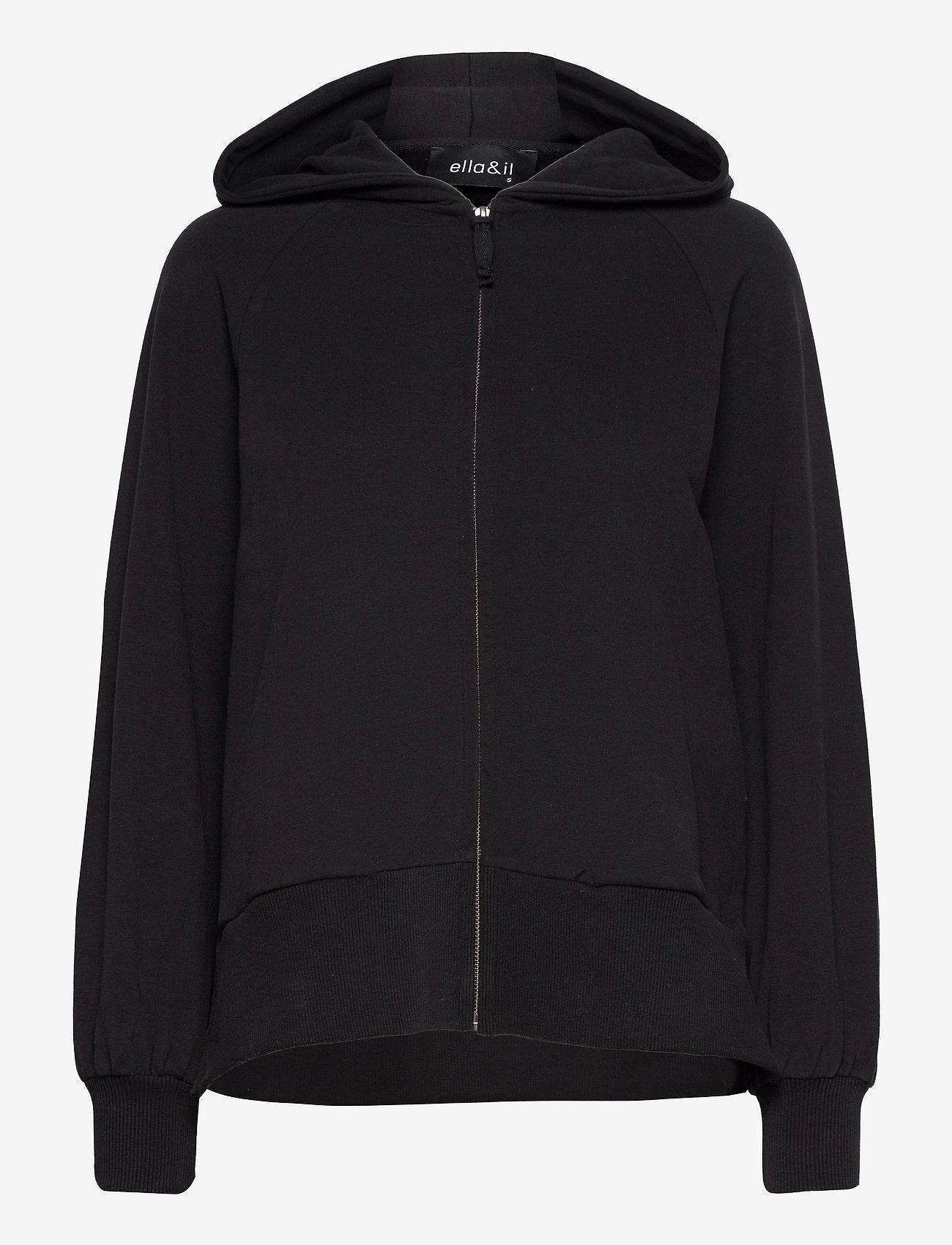 ella&il - Turner jacket - pulls à capuche - black - 0