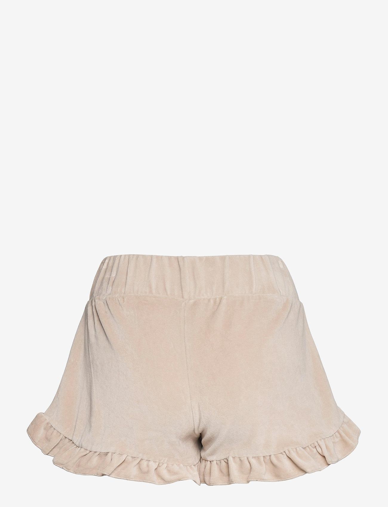 ella&il - Hay velour shorts - shorts casual - beige - 1