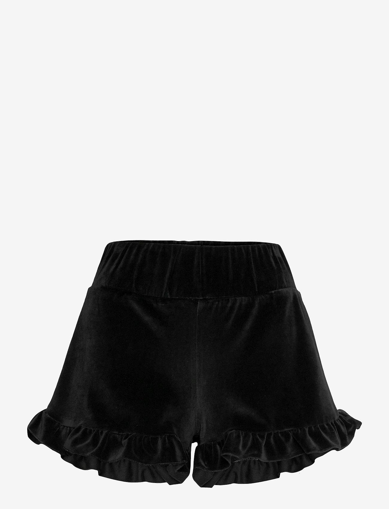 ella&il - Hay velour shorts - shorts casual - black - 0