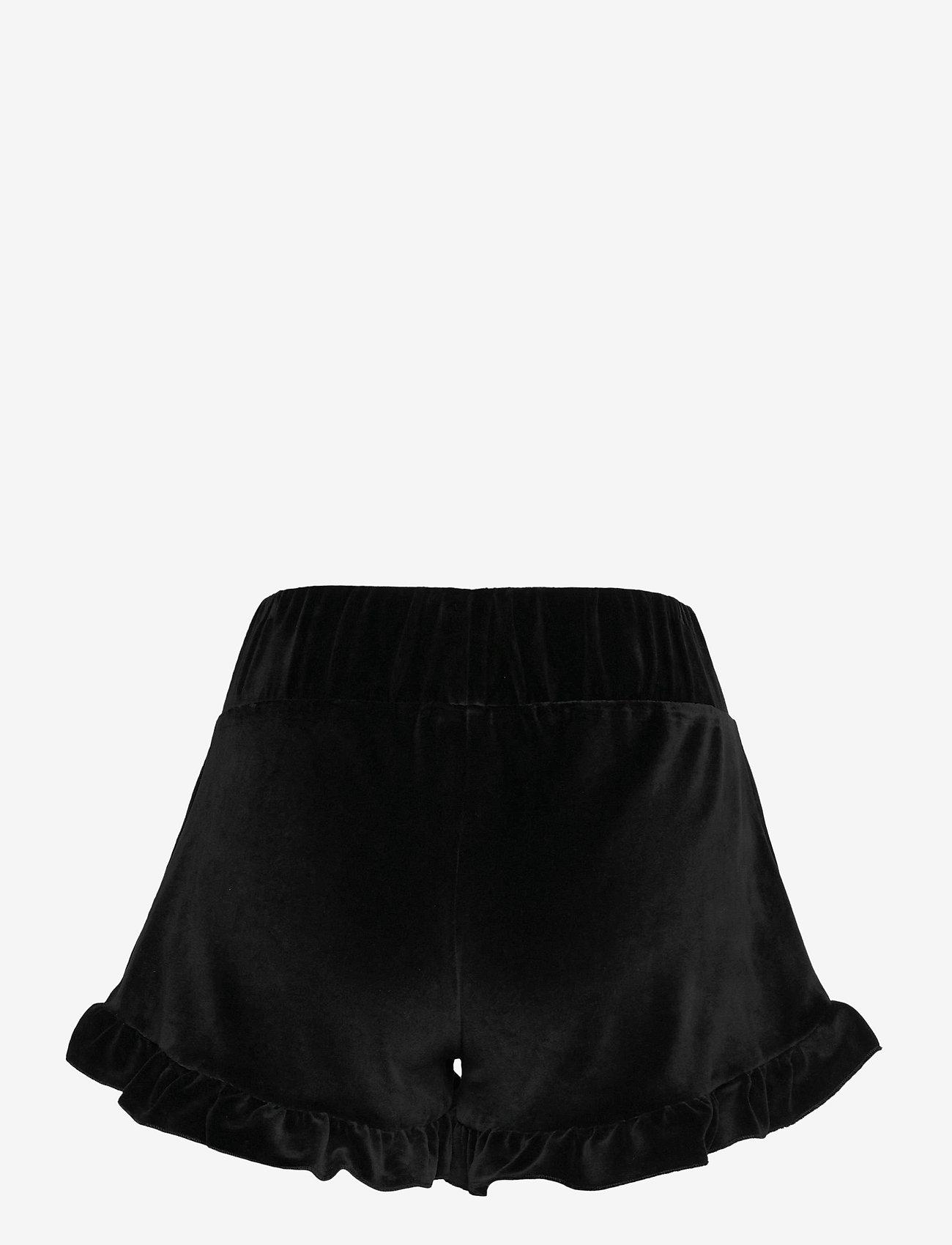 ella&il - Hay velour shorts - shorts casual - black - 1