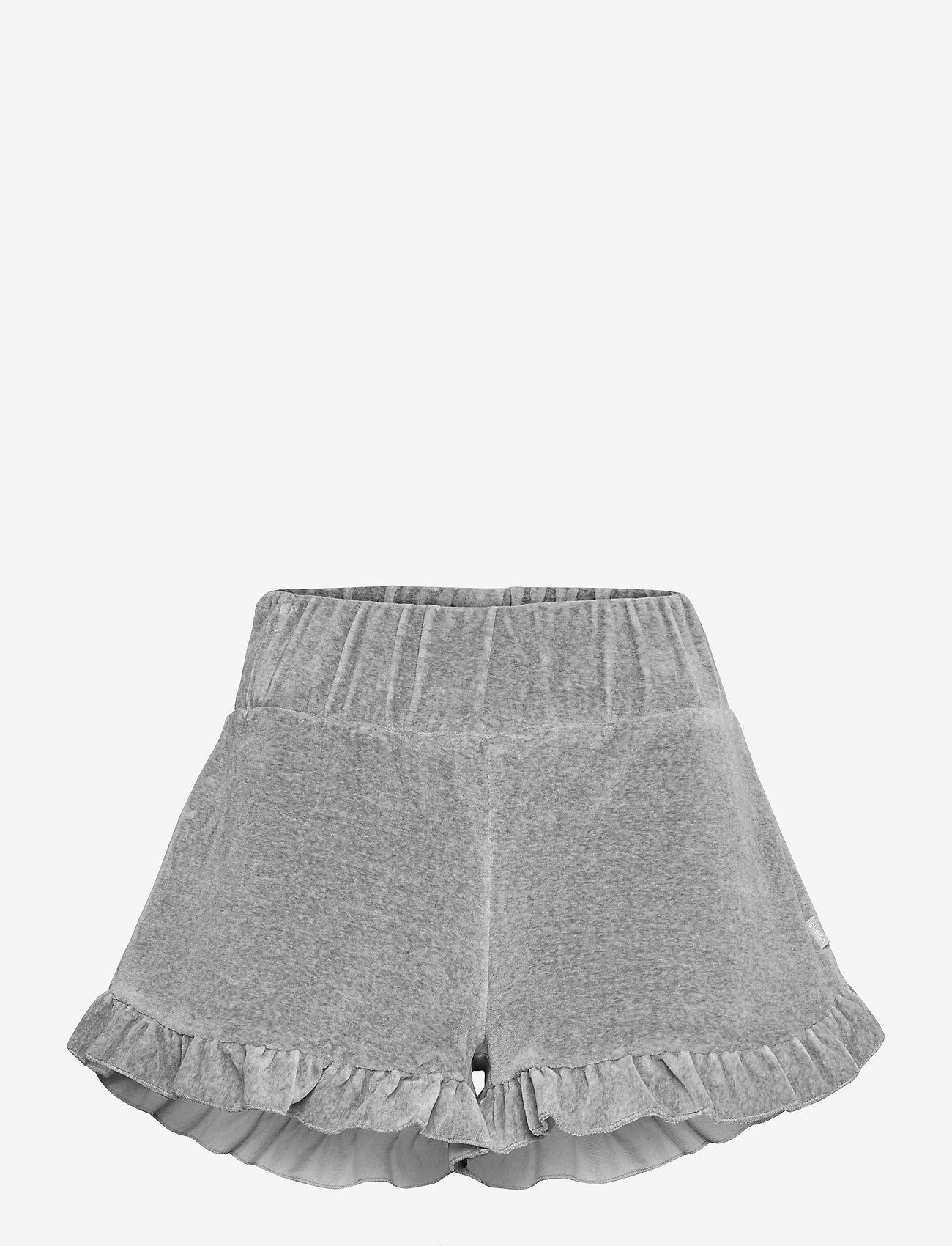 ella&il - Hay velour shorts - shorts casual - grey - 0