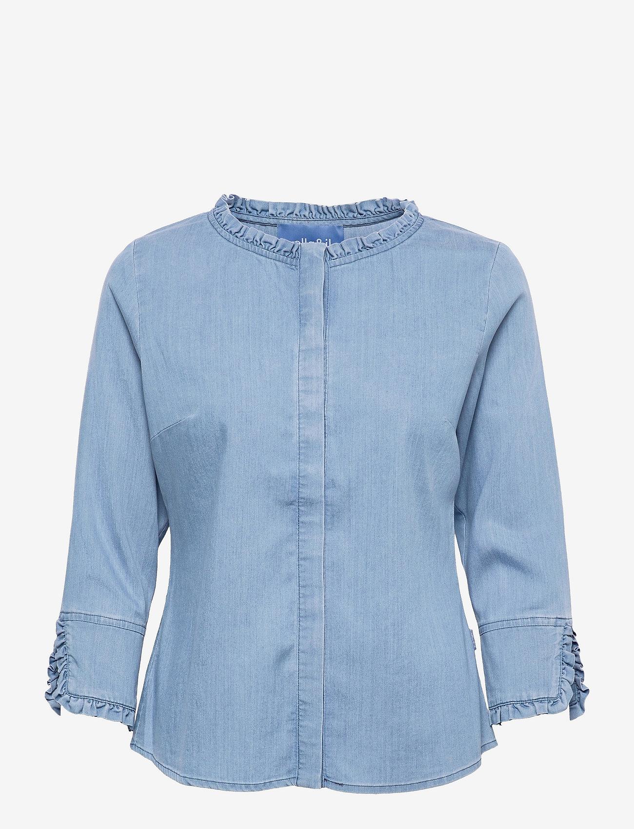 ella&il - Clara denim shirt - chemises en jeans - blue denim - 0