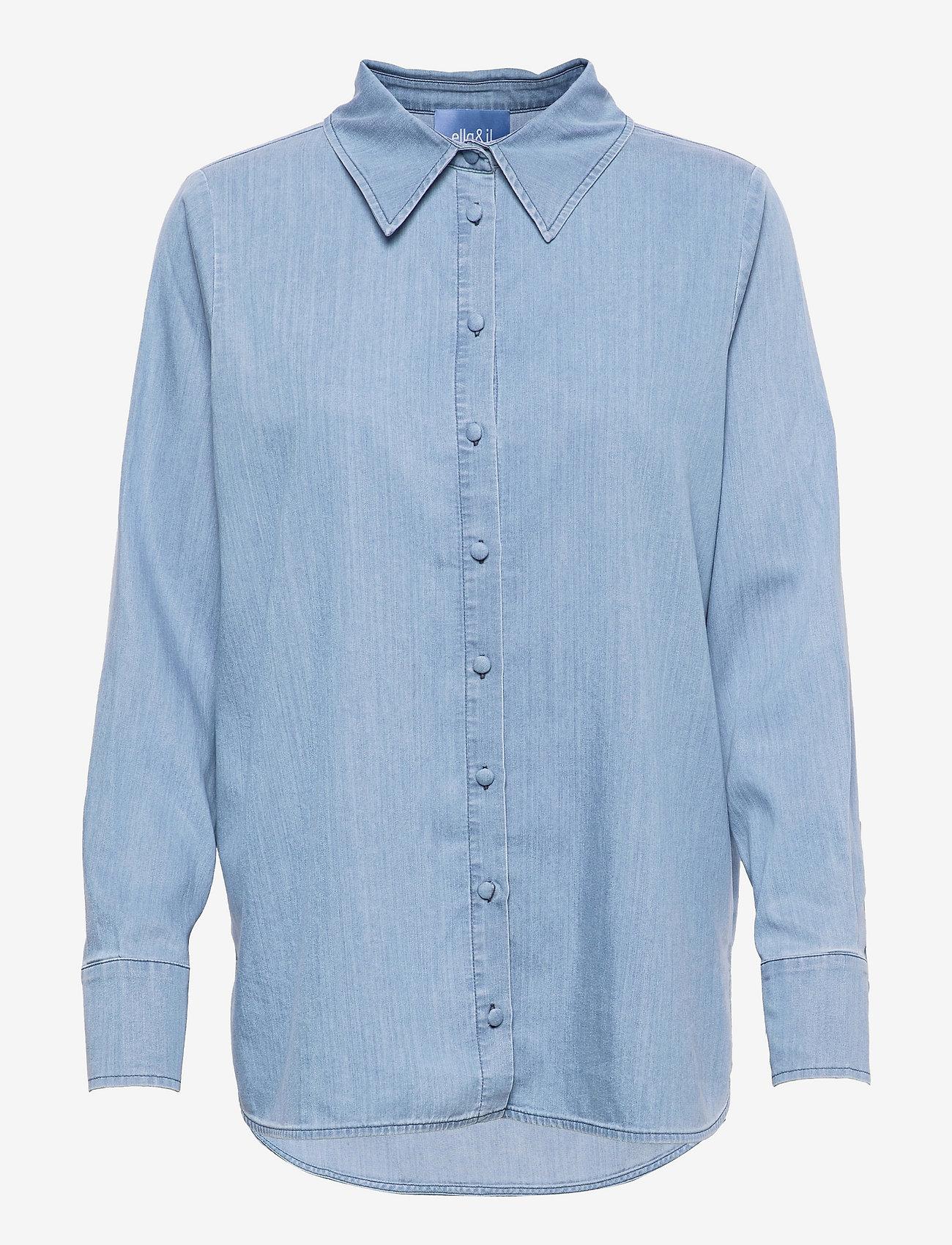 ella&il - Lissy denim shirt - chemises en jeans - blue denim - 0