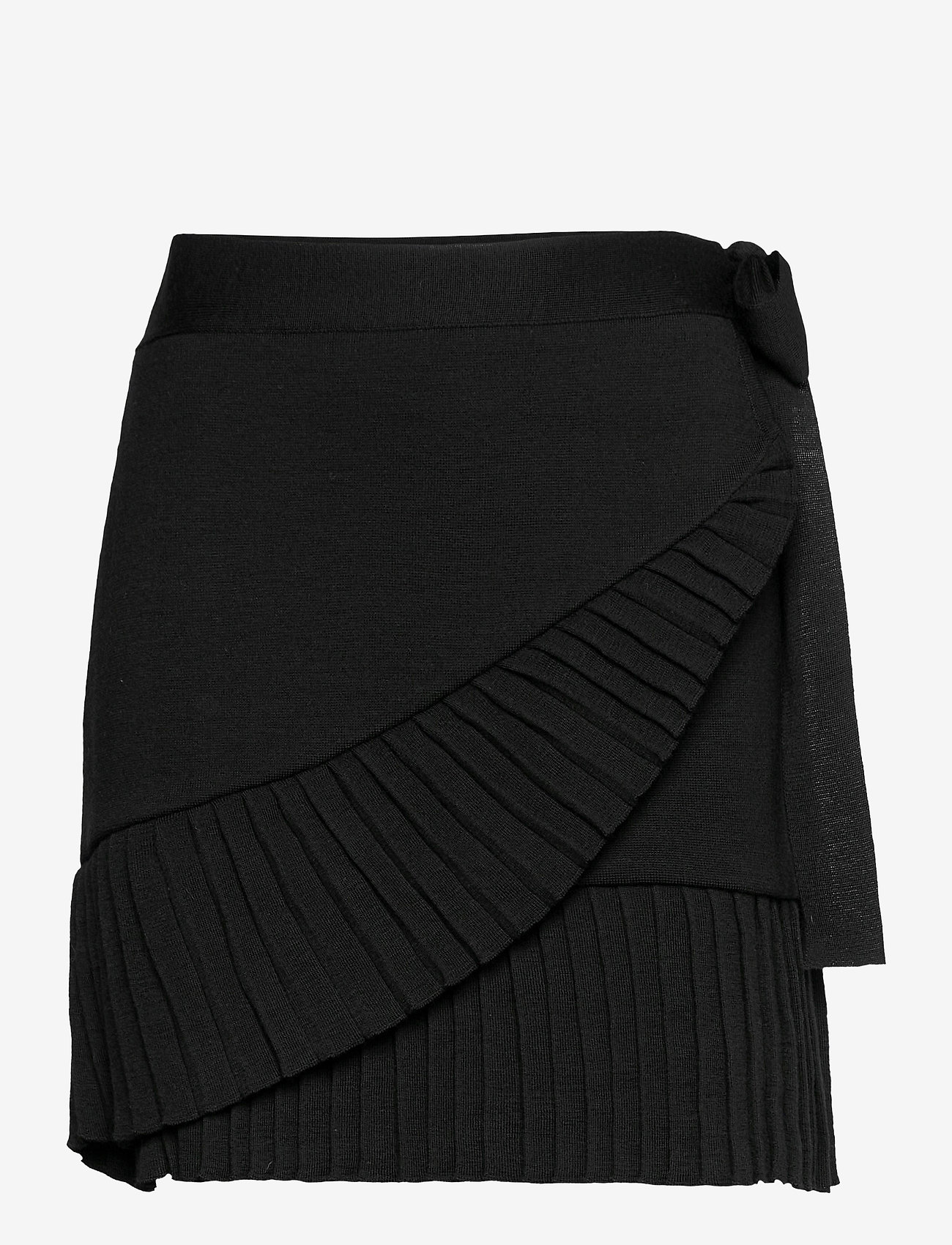 ella&il - Lucy merino skirt - jupes portefeuille - black - 0