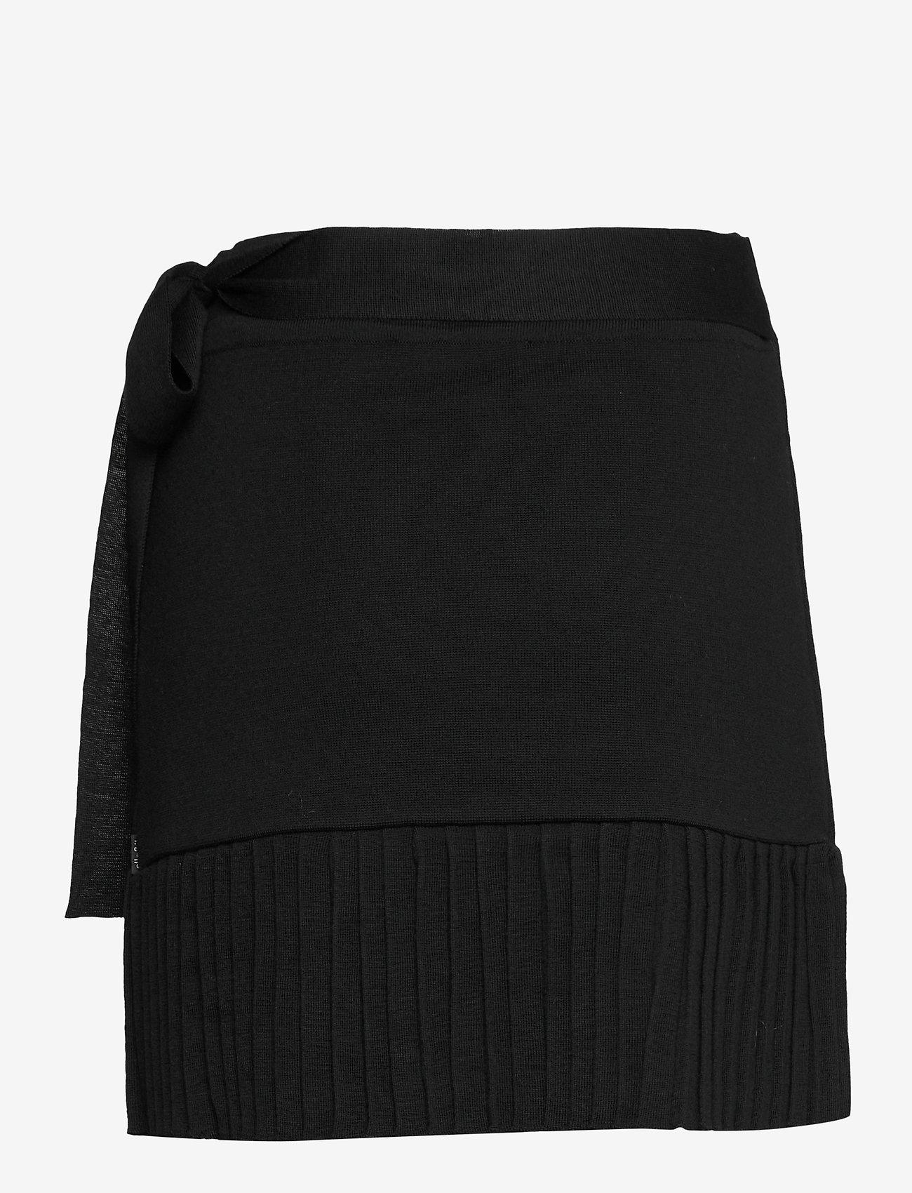 ella&il - Lucy merino skirt - jupes portefeuille - black - 1