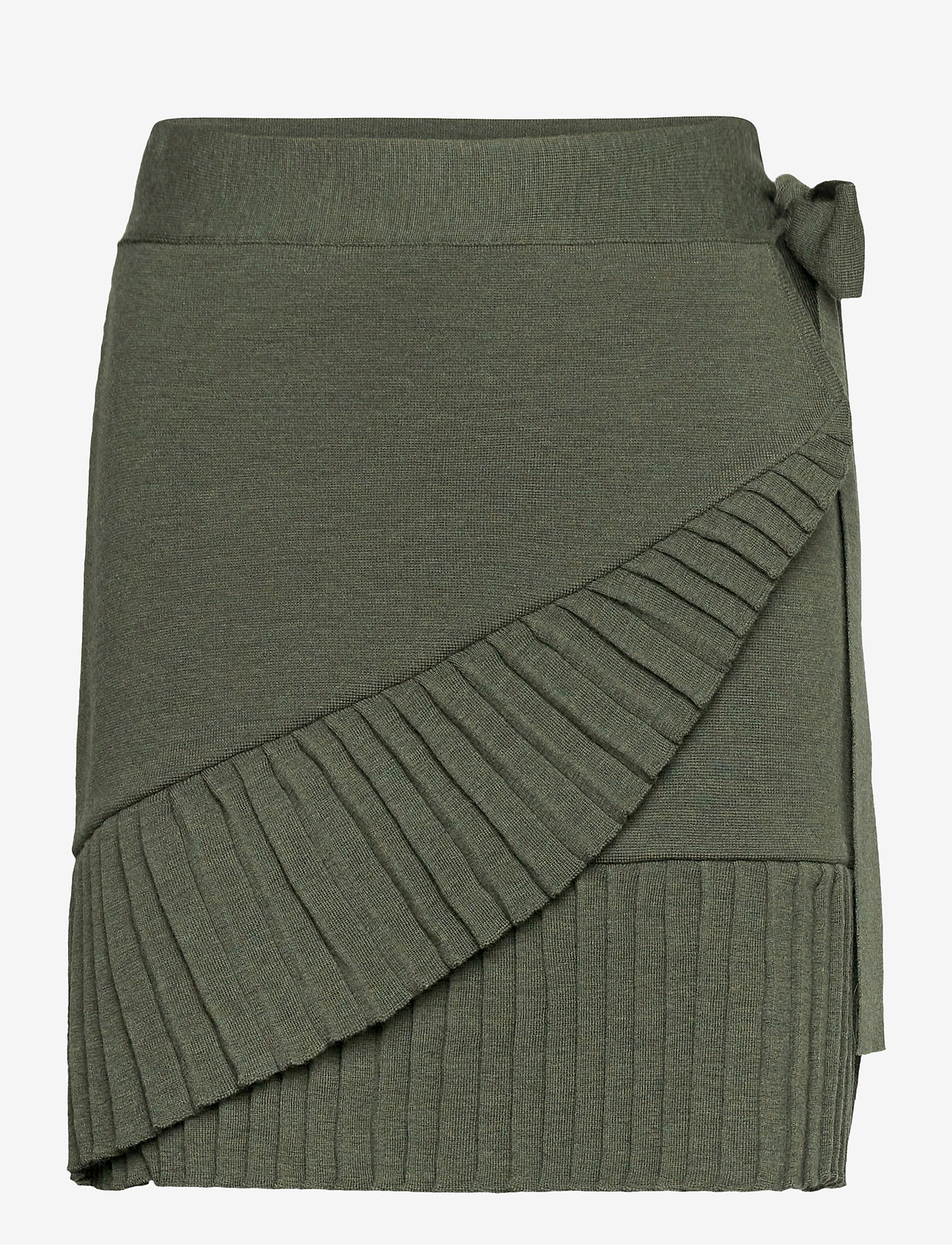 ella&il - Lucy merino skirt - jupes portefeuille - green - 0
