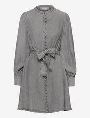 Zena denim dress - GREY DENIM