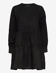 Aria linen dress - BLACK