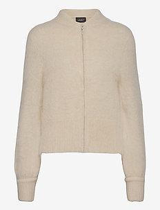 Laura mohair cardigan - swetry rozpinane - white