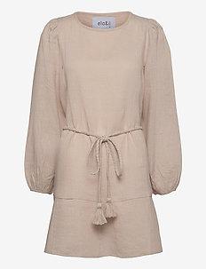 Bella linen dress - robes d'été - beige