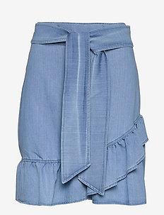 Jus denim skirt - jupes courtes - blue denim