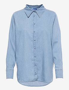 Lissy denim shirt - chemises en jeans - blue denim