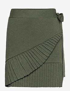 Lucy merino skirt - jupes portefeuille - green