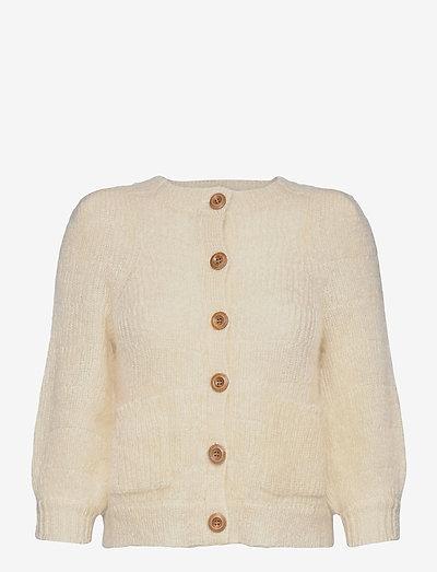 Nikky mohair cardigan - gilets - white