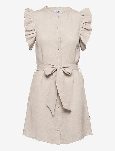 Perry linen dress - robes d'été - beige