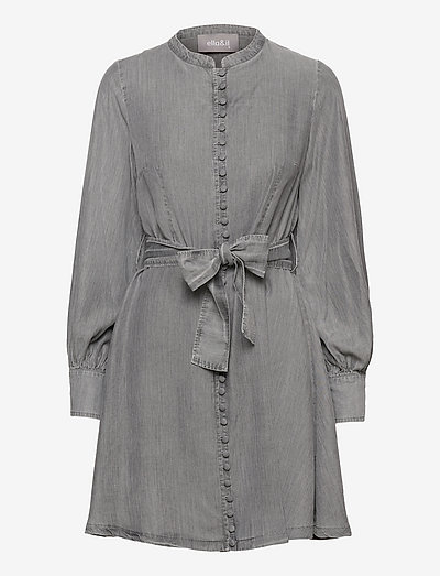 Zena denim dress - robes de jour - grey denim