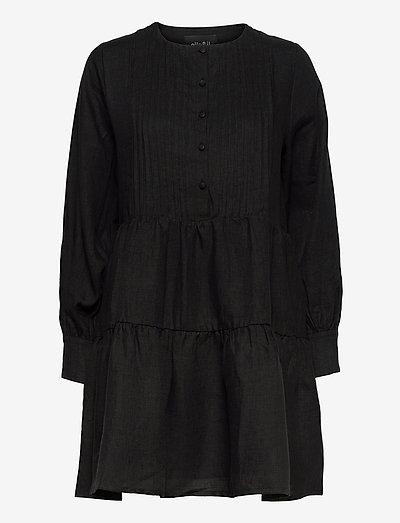 Aria linen dress - robes de jour - black