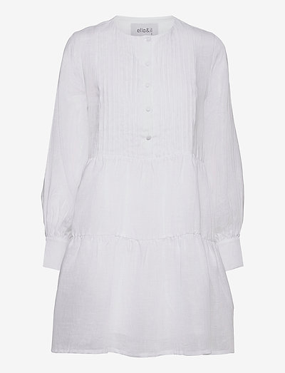 Aria linen dress - robes de jour - white