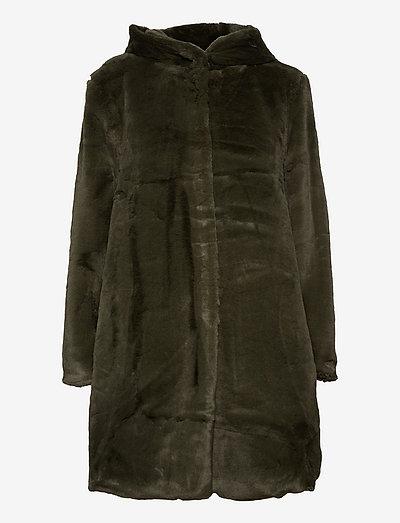 Cath fake fur jacket - fausse fourrure - green