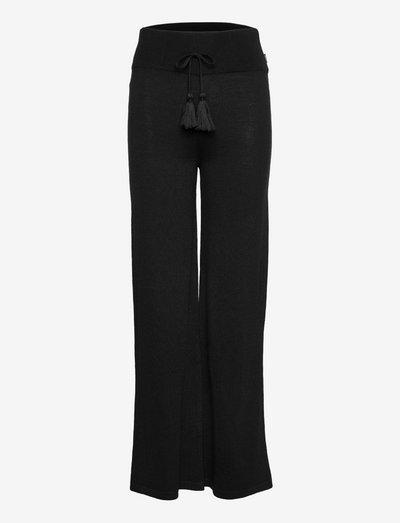 Mubi merino pants - pantalons droits - black