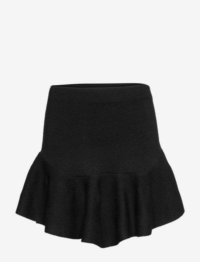 Karen merino skirt - jupes courtes - black