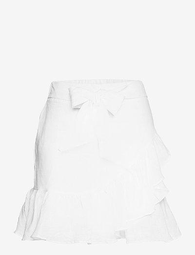 Julli linen skirt - jupes courtes - white