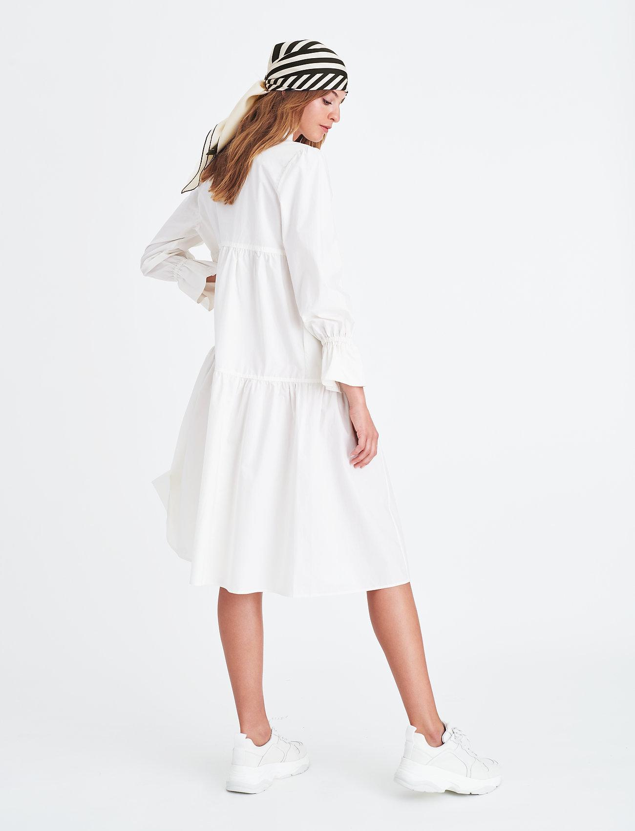 Elle Style Awards Collection 2019 Madrid Poplin Dress - Sukienki WHITE - Kobiety Odzież.