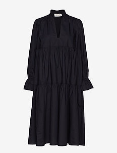 Madrid Poplin Dress - BLACK