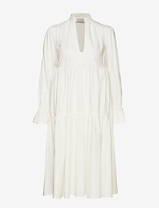 Madrid Poplin Dress - WHITE