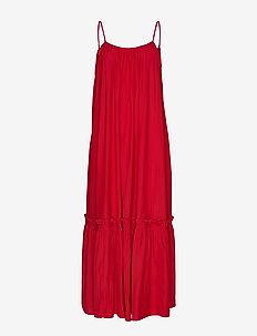 Rome Strap Dress - FUCHSIA
