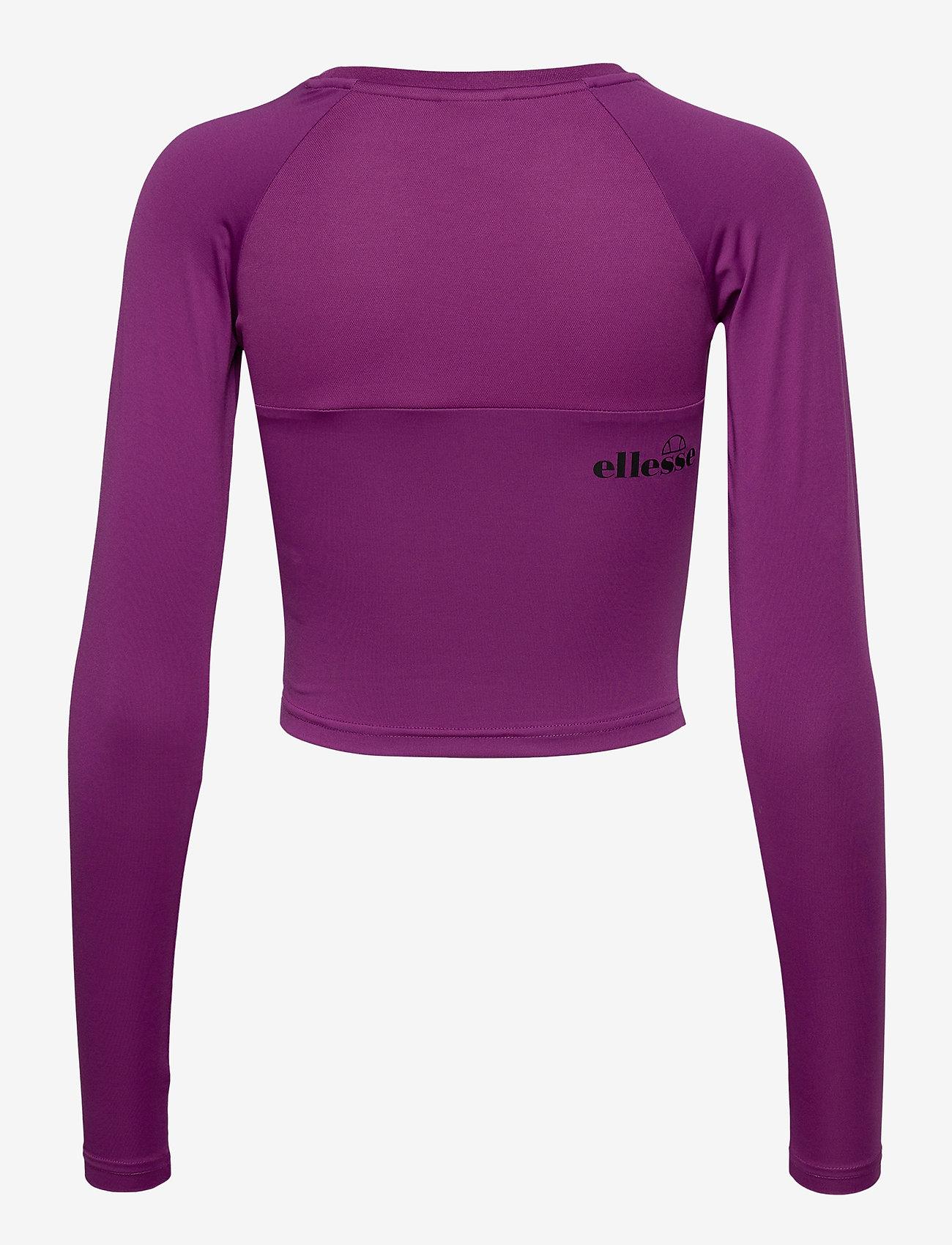 Ellesse - EL MERILO LS CROP T-SHIRT - crop tops - purple - 1