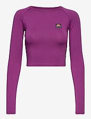Ellesse - EL MERILO LS CROP T-SHIRT - crop tops - purple - 0