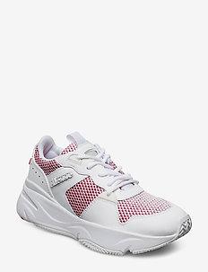 EL ASPIO SUED AF WHT/WHT/PNK - chunky sneaker - wht/wht/pnk