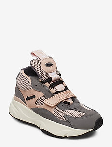 EL AURANO MID SUED AF DK GRY/DK PNK/BLK - chunky sneaker - dk gry/dk pnk/blk
