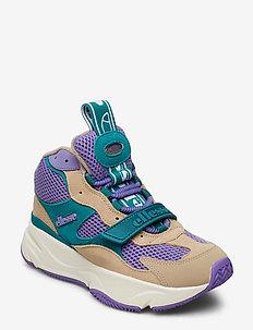 EL AURANO MID SUED AF LT KHK/DK TRQS/LT PUR - chunky sneaker - lt khk/dk trqs/lt pu