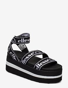 EL ELINA BLK/WHT - flache sandalen - blk/wht