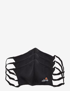 EL PALSITO 3 PK FACE COVERING - ansiktsmasker - black