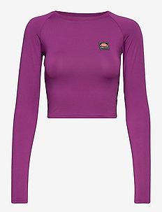 EL MERILO LS CROP T-SHIRT - crop tops - purple
