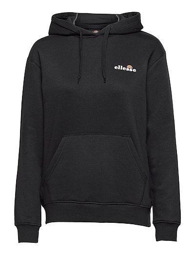New Ellesse Mens Hoodie Hoody Black Overhead Chest Logo Barreti RRP £65