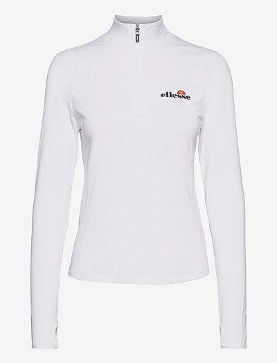 EL SOFIRA 1/4 ZIP TOP - longsleeved tops - white