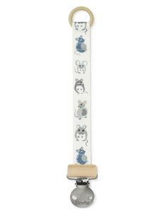 White Egret unisex pacifier clippacifier holder