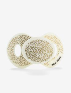 Pacifier - Gold Shimmer - pacifiers - white/gold