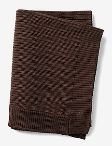 Wool Knitted Blanket- Chocolate - blankets & quilts - brown