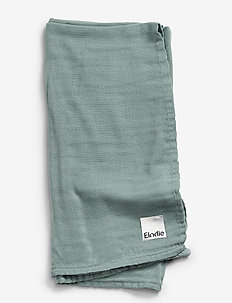 Bamboo Muslin Blanket - Mineral Green - blankets & quilts - mint