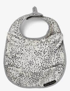 Baby Bib - Dots of Fauna - bibs - white/grey