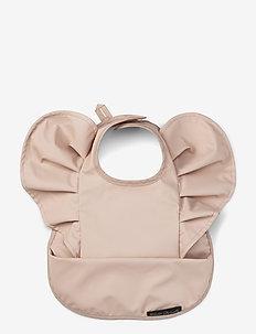 Baby Bib - Powder Pink - smekke - pink