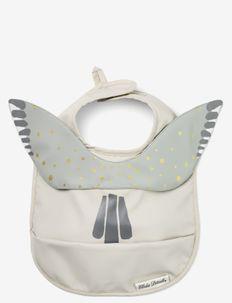 Baby Bib - Watercolour Wings - bibs - greige/mix