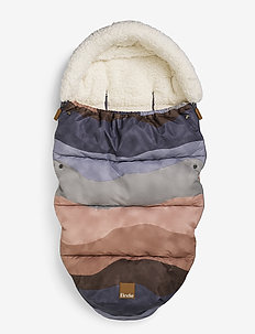 Footmuff - Winter Sunset - footmuffs - dustypink/dk blue/beige