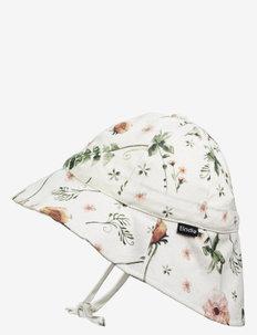 Sun Hat - Meadow Blossom - solhatt - white/pink/green