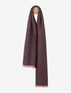 Edinburgh scarf - halsdukar - nude/chocolate